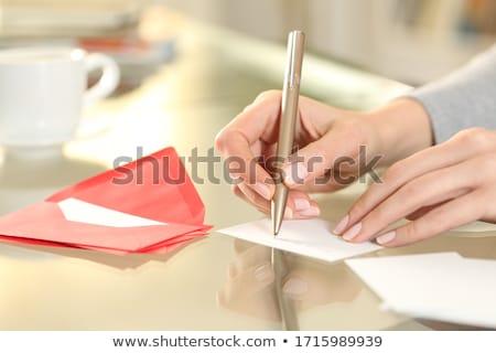 Menina escrita obrigado negócio terno palavra Foto stock © a2bb5s
