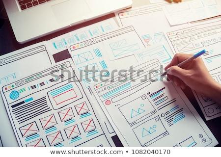 пользователь опыт дизайна изображение фон веб Сток-фото © bagiuiani