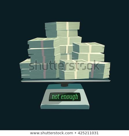 Suficiente homem palavras lousa negócio dinheiro Foto stock © Ansonstock
