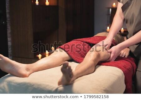 Man aanraken heupen vrouw kamer Stockfoto © wavebreak_media
