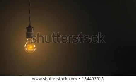 bombilla · luz · marrón · bombilla · diseno - foto stock © antonprado