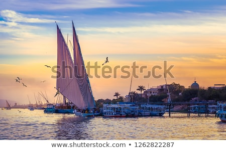 On the riverside vessels relax. Stock photo © imre_faludi