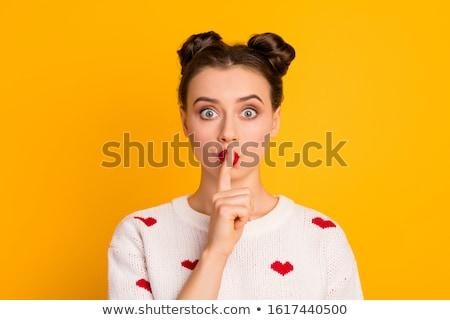 Shush, lover Stock photo © pressmaster