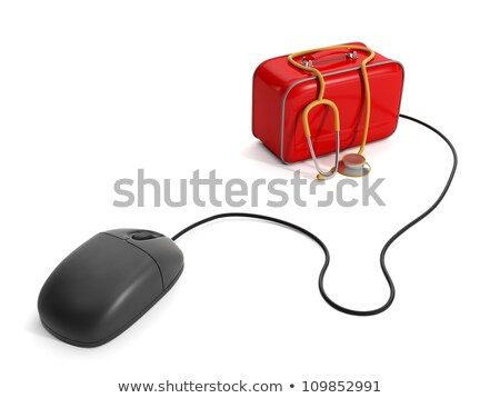 ilustração · 3d · chamar · médico · internet · mouse · de · computador · primeiro · socorro - foto stock © kolobsek
