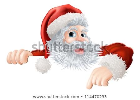 santa pointing down at blank billboard stock photo © get4net