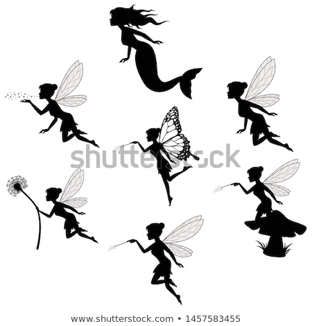 fairy wings silhouettes Stock photo © koqcreative