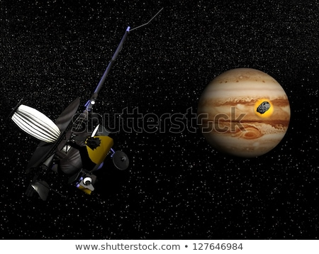 Galileo observing comet Shoemaker-Levy 9 crashing into Jupiter - Stock photo © Elenarts