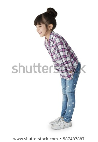 Side view of girl bending Stock photo © zzve