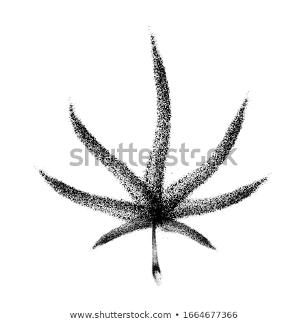 cannabis leaf grunge icon with stained texture vector stock photo © pashabo