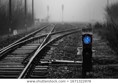 Trafik ışıkları tren istasyonu yalıtılmış beyaz şehir Stok fotoğraf © ABBPhoto