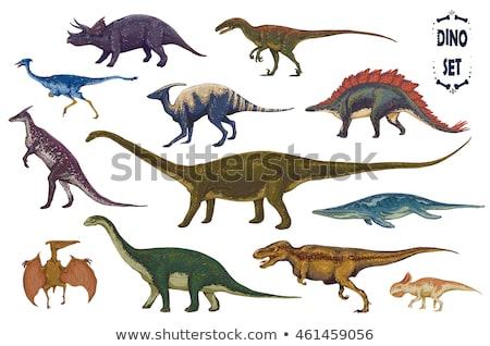 набор различный Динозавры рисованной эскиз иллюстрация Сток-фото © perysty