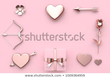 absztrakt · fényes · szív · csillog · esküvő · szeretet - stock fotó © rioillustrator