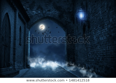 The castle and the graveyard  Stock photo © 3523studio