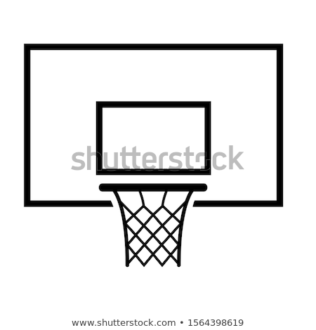 Stock photo: Basketball backboard