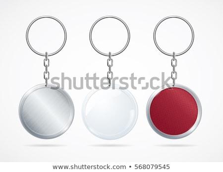 Kulcstartó pénzügy bankügylet ikon clip art hurok Stock fotó © zzve