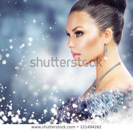 winter · meisje · luxe · pels · mode · dame - stockfoto © victoria_andreas