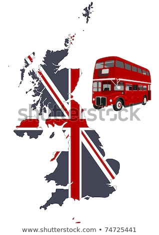 Stock photo: Grunge London Images With Red Car Image Vector Illustration