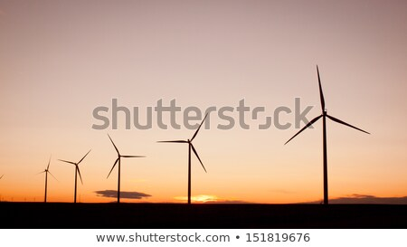 vento · eletricidade · horizonte · panorama · campos - foto stock © rcarner