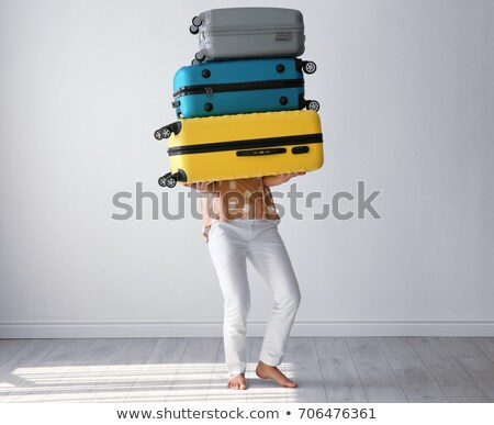 Woman carrying flooring Stock photo © photography33