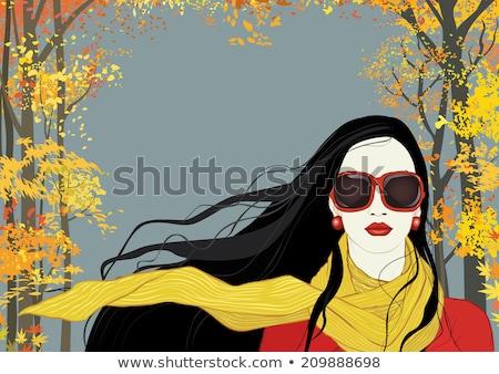 dourado · lábios · mulher · boca - foto stock © andersonrise