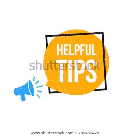 conseils · icône · 3D · mots · croisés · orange · Ouvrir · la - photo stock © dacasdo