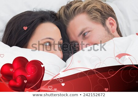 Bruna rosso camera da letto bella lusso Foto d'archivio © ssuaphoto