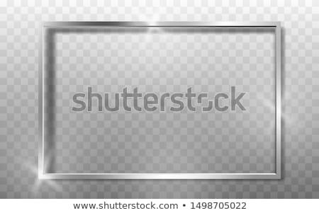 zilver · halftoon · frame · vierkante · textuur - stockfoto © witthaya