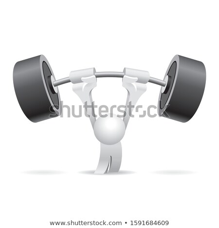 The 3D little man with the pump. Stock photo © karelin721