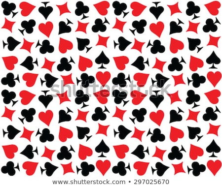 Vector red heart on diamond background  Stock photo © Elisanth
