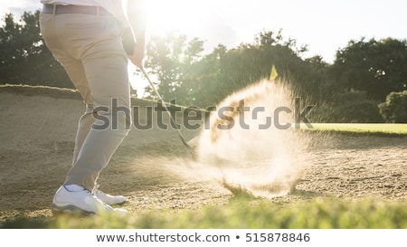 Stock photo: golf bunker