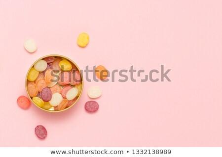 カラフル チョコレート 錫 食品 ストックフォト © Discovod