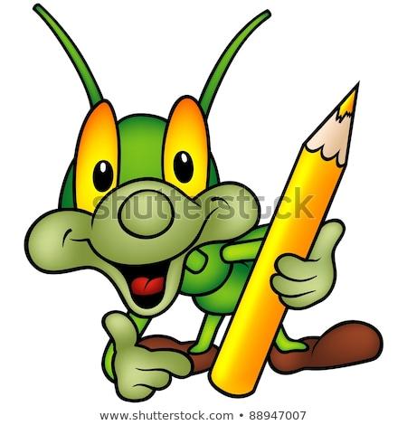 Happy Green Bug Painter Stock photo © derocz
