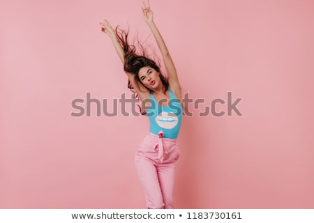красивой брюнетка танцы девушки долго Сток-фото © rcarner