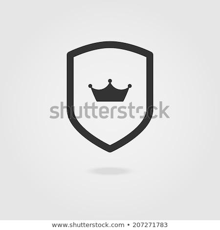 Blauw · zilver · schild · veiligheid · computers · web - stockfoto © mikemcd