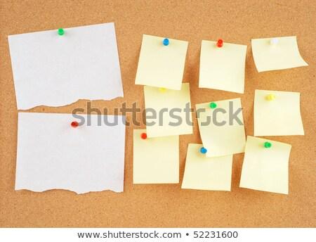 Excelente imagem de uma nota fixada em um painel de cortiça Foto stock © clearviewstock