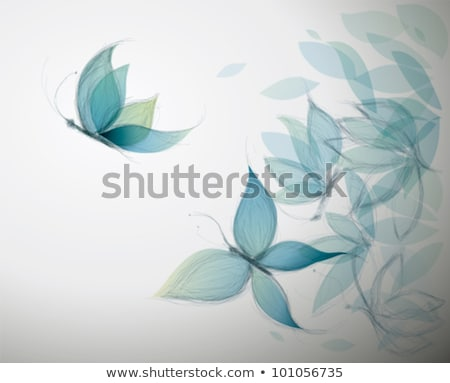surreal butterfly and flower Stock photo © prill