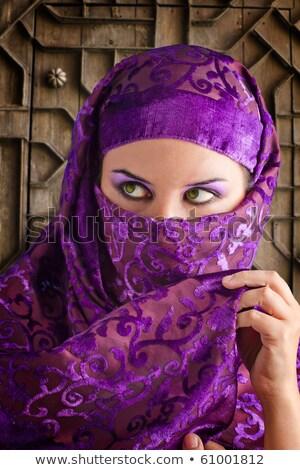 Kadın Arap kostüm kale kapı gözler Stok fotoğraf © Fernando_Cortes