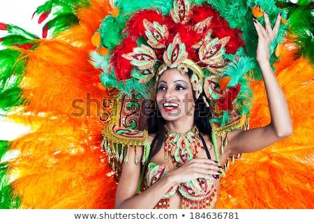 Dansers carnaval kostuums poseren witte partij Stockfoto © stepstock