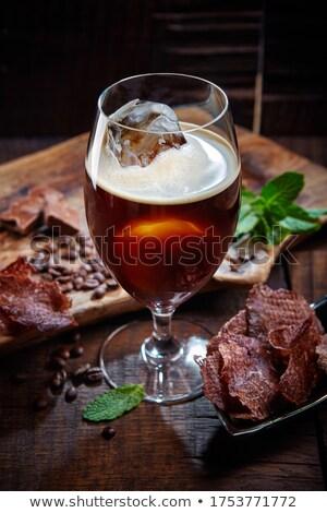 Сток-фото: мяса · Ice · Cube · изолированный · белый · продовольствие