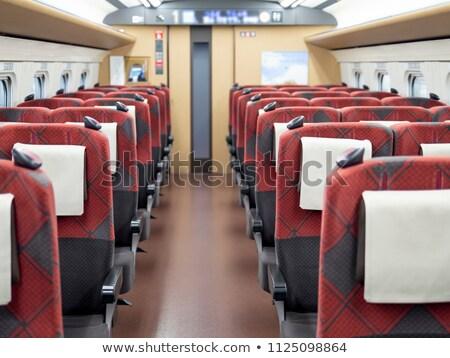 nowoczesne · pociągu · wnętrza · widoku · czerwony - zdjęcia stock © mikko
