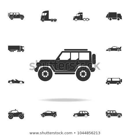 Vector jeep detailed silhouette Stock photo © mechanik