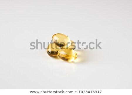 желтый · гель · капсула · изолированный · белый · золото - Сток-фото © marylooo
