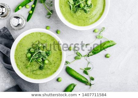 スープ ボウル エンドウ カップ ストックフォト © icemanj