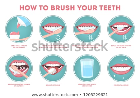 vector teeth Stock photo © beaubelle