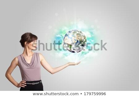 terre · berceau · planète · terre · action · sombre - photo stock © stuartmiles