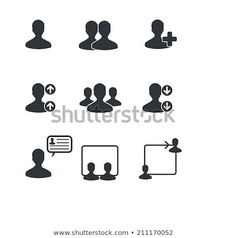 dedo · transparente · azul · botão · como · negócio - foto stock © redpixel