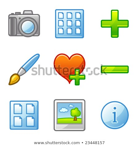 Image library web icons, alfa series stock photo © SergeyT