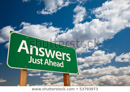 Answer Just Ahead on Green Billboard. Stock photo © tashatuvango