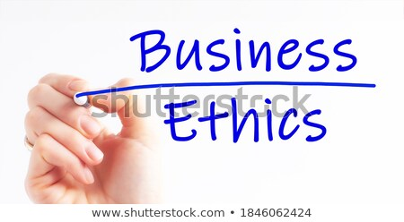 Ethics Blue Marker Stock photo © ivelin