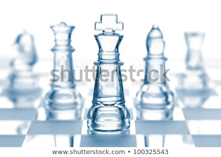 glass chess set stock photo © jonnysek